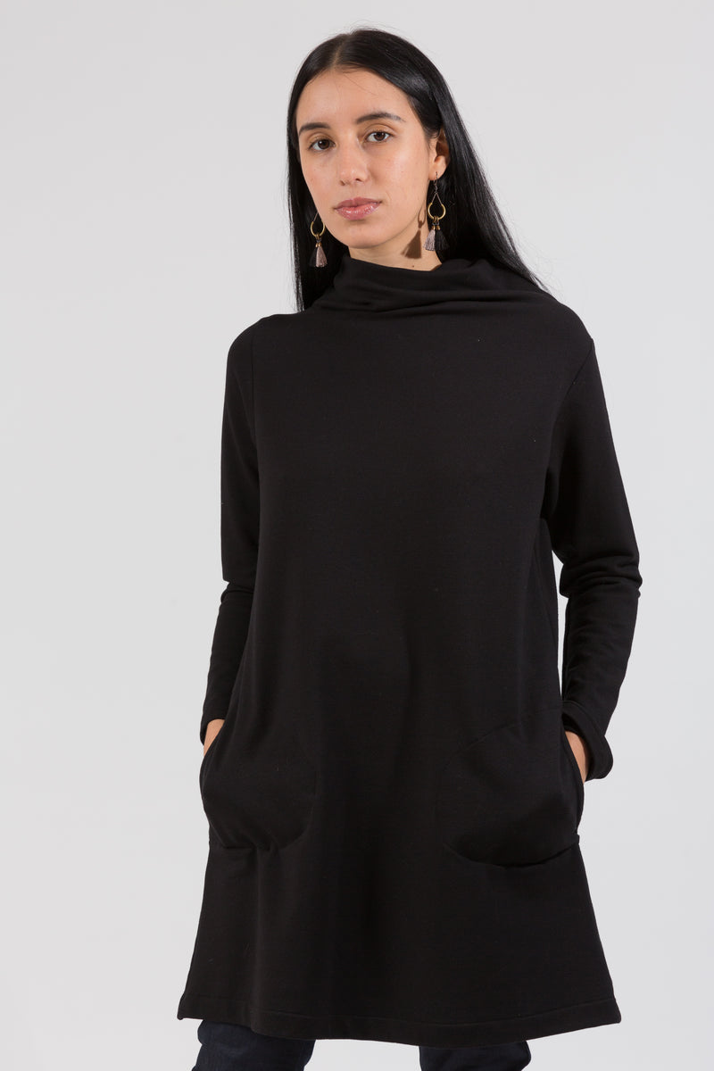 Cozy Tunic Dress in Soy French Terry