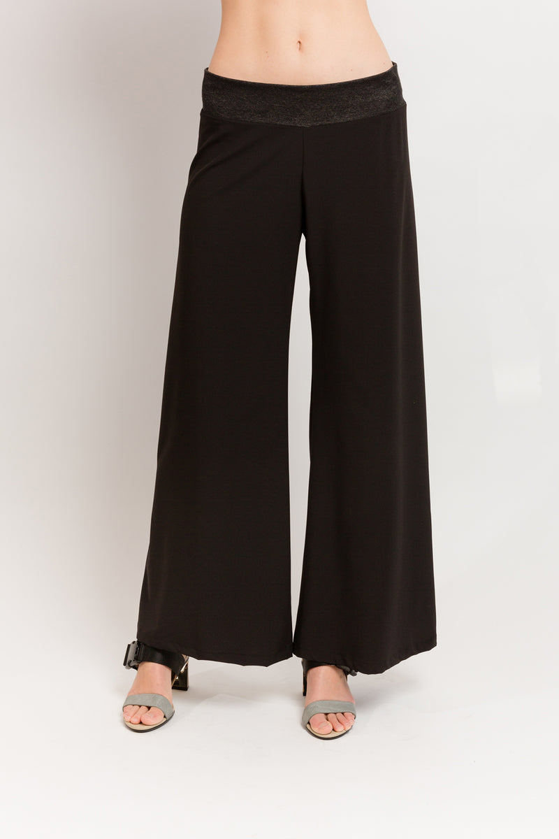 Hepburn Trouser in Black Techno Stretch