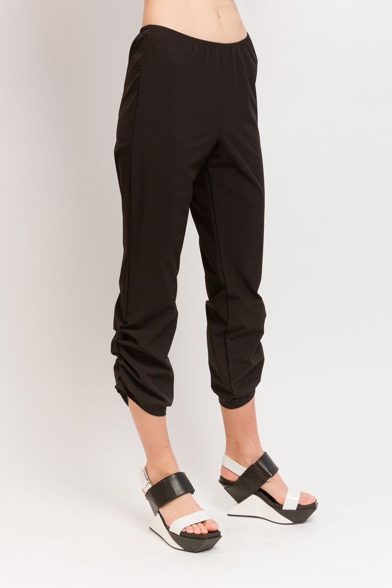 Caterpillar Pant in Black Techno Stretch