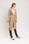 camel hooded trench coat
