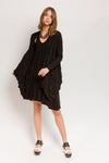 Trapeze Dress in Black Bamboo