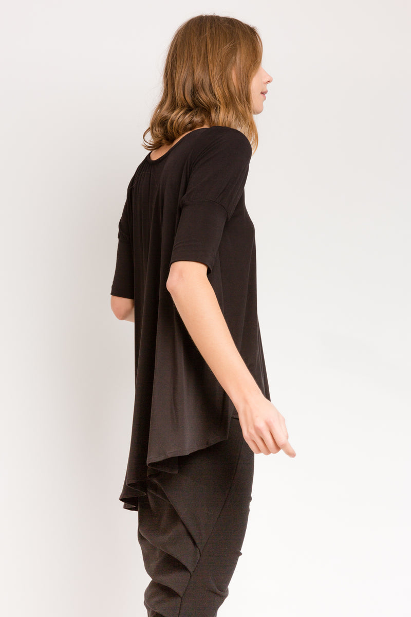 Swing Top in Black Bamboo Jersey
