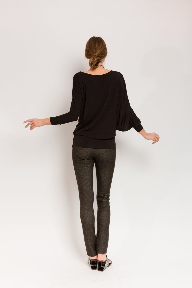 Andrew Tunic in Black Bamboo Jersey
