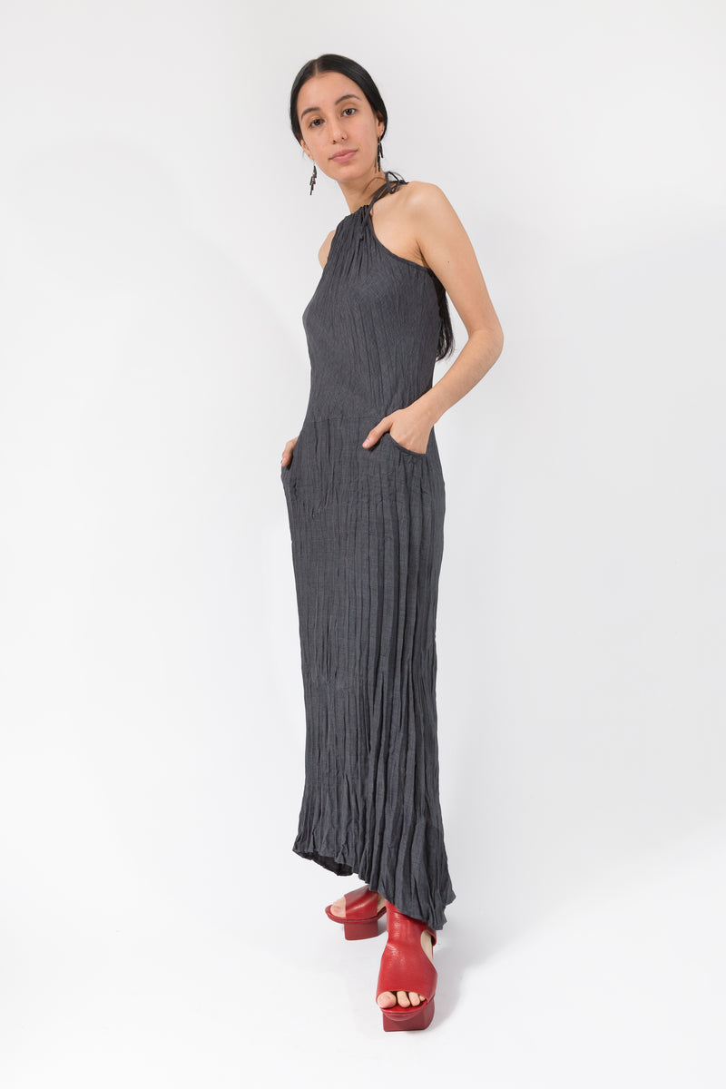 Twisted Maxi Halter Dress in Xanadu