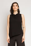 S/L Trapezoid Tunic in Black Bamboo Jersey