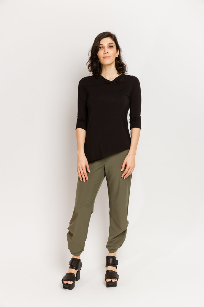 Caterpillar Pants in Olive Techno Stretch