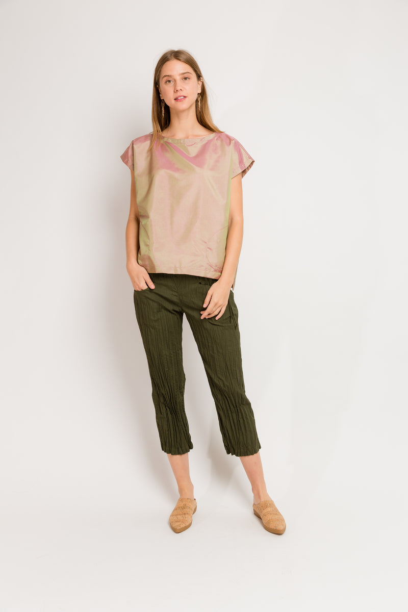Moth Twisted Capri in Olive