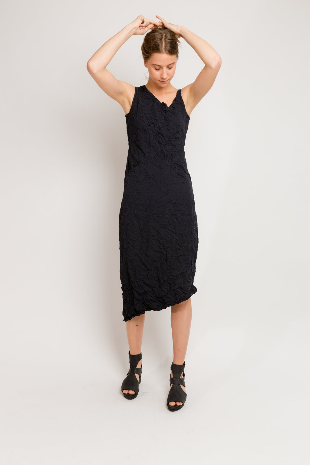 Moth Asymmetrical Long Dress in Microfiber