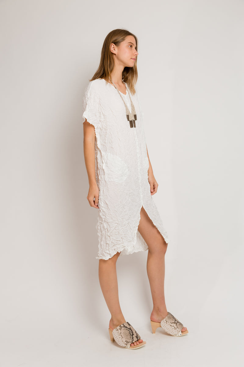 Moth Desert Caftan in Silky White