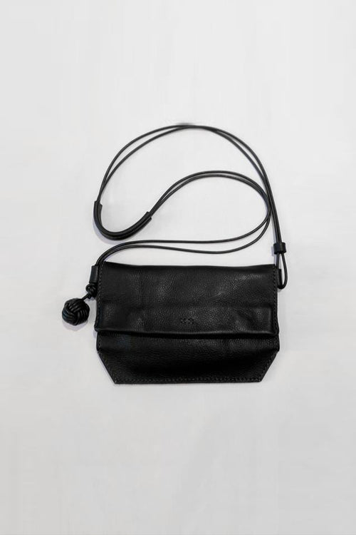 (k)not Mini Messenger in Black Grain