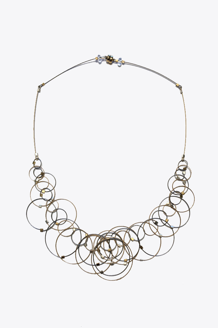 MPR Dew Necklace in Steel/Gold Two-Tone