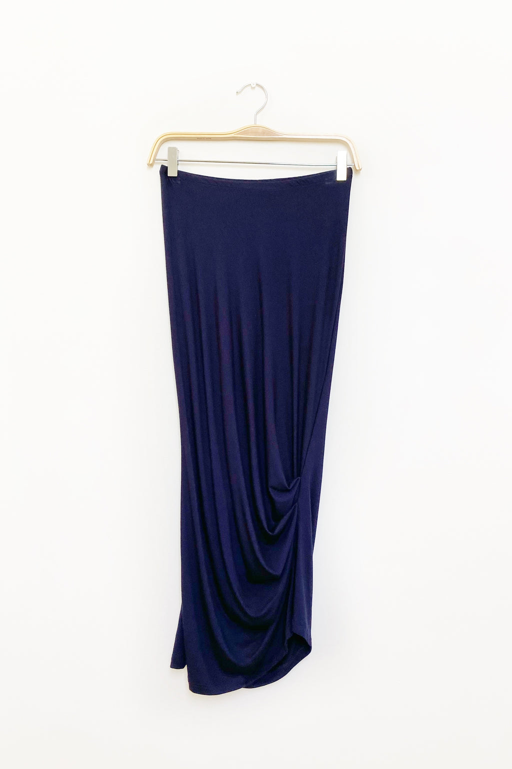 Caterpillar Long Skirt in Midnight Navy