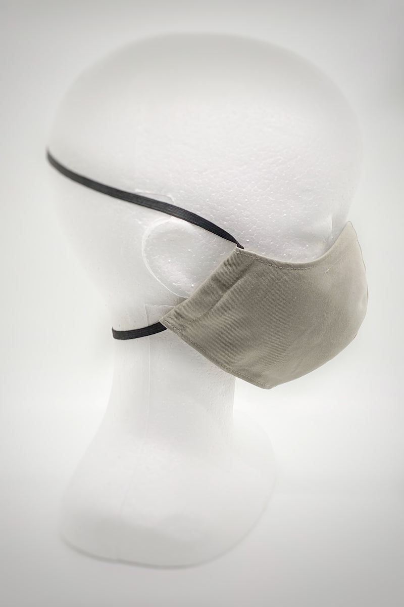 Minimalist Face Mask in Stone Organic Cotton/Silk