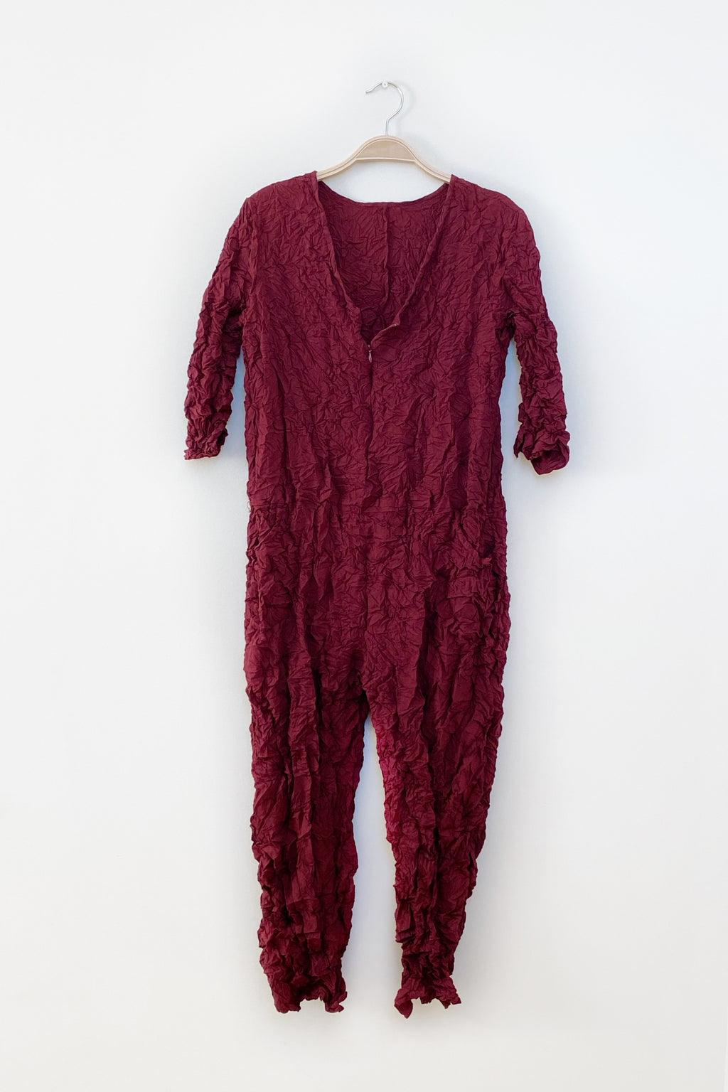 Moth Boiler Suit in Burgundy