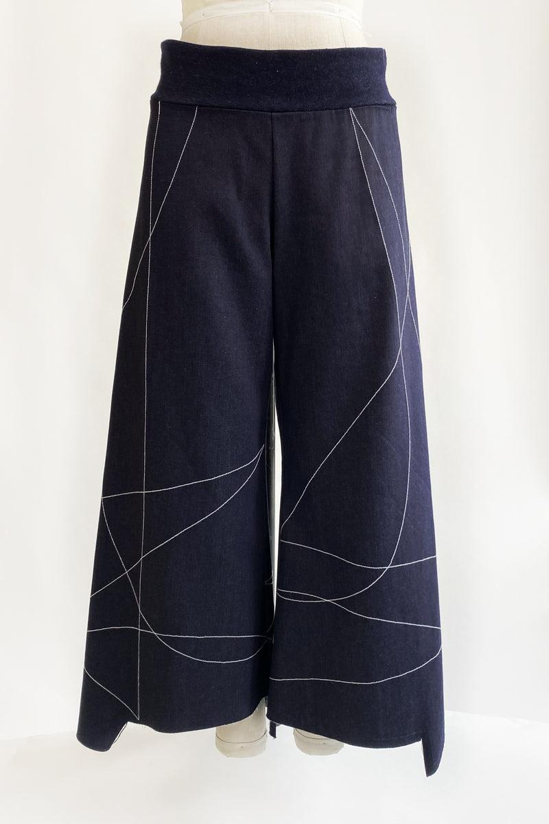 Scribble Step Stitch Pants