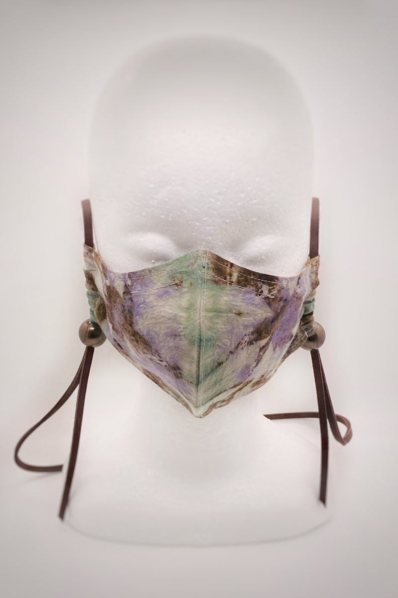 Tie Dye+Pearl Mask - English Garden