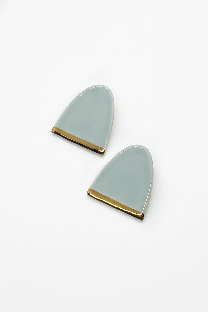 Large Dome Studs in Pale Blue/Gold