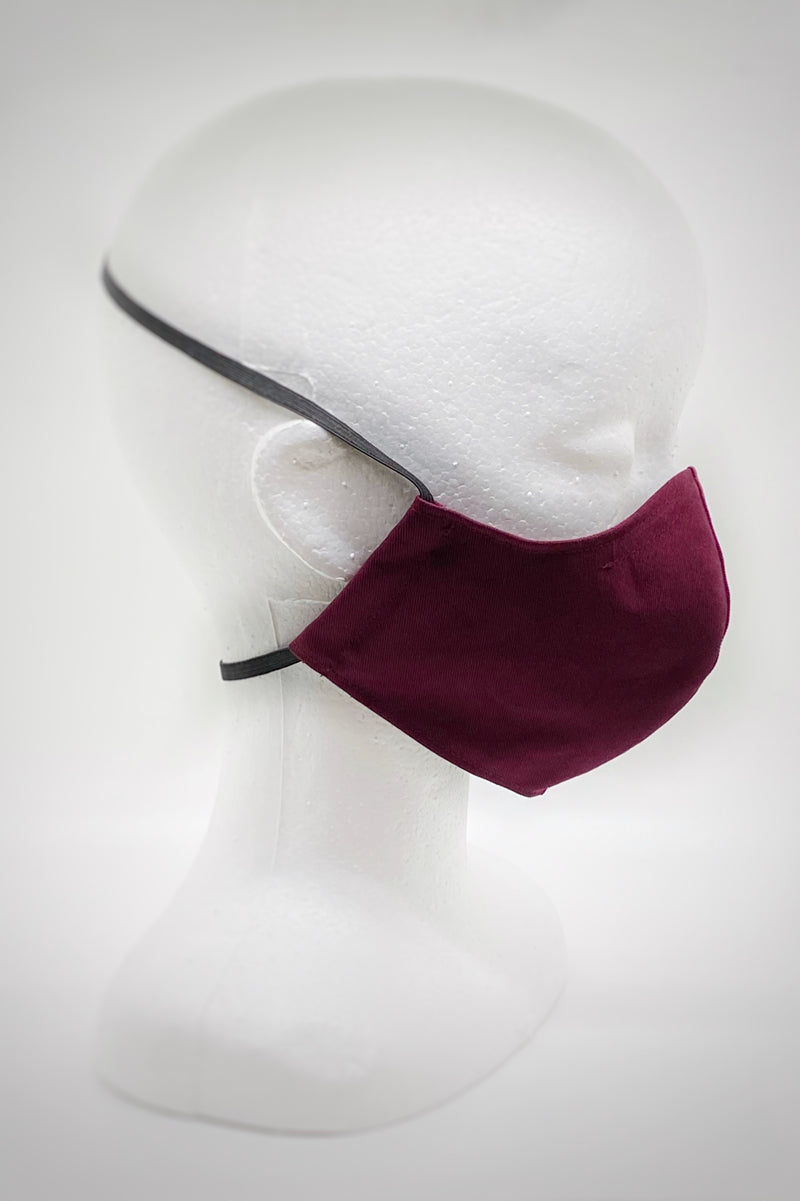 Minimalist Face Mask in Berry Organic Cotton/Silk