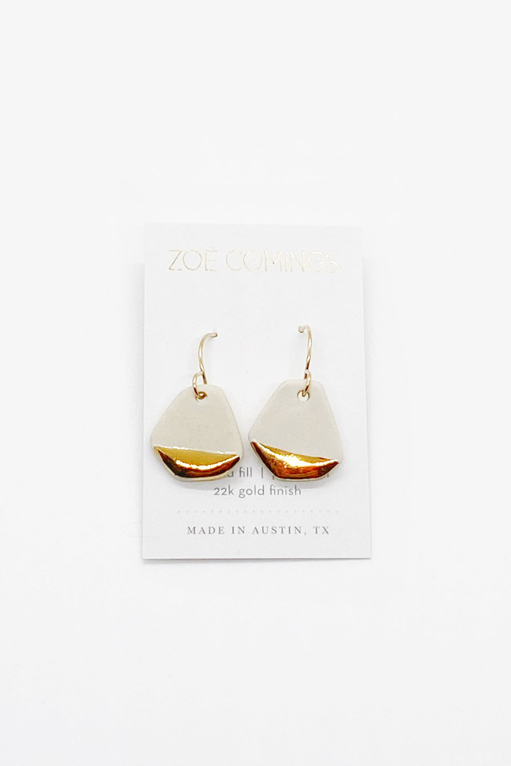Large Geo Drop Earrings