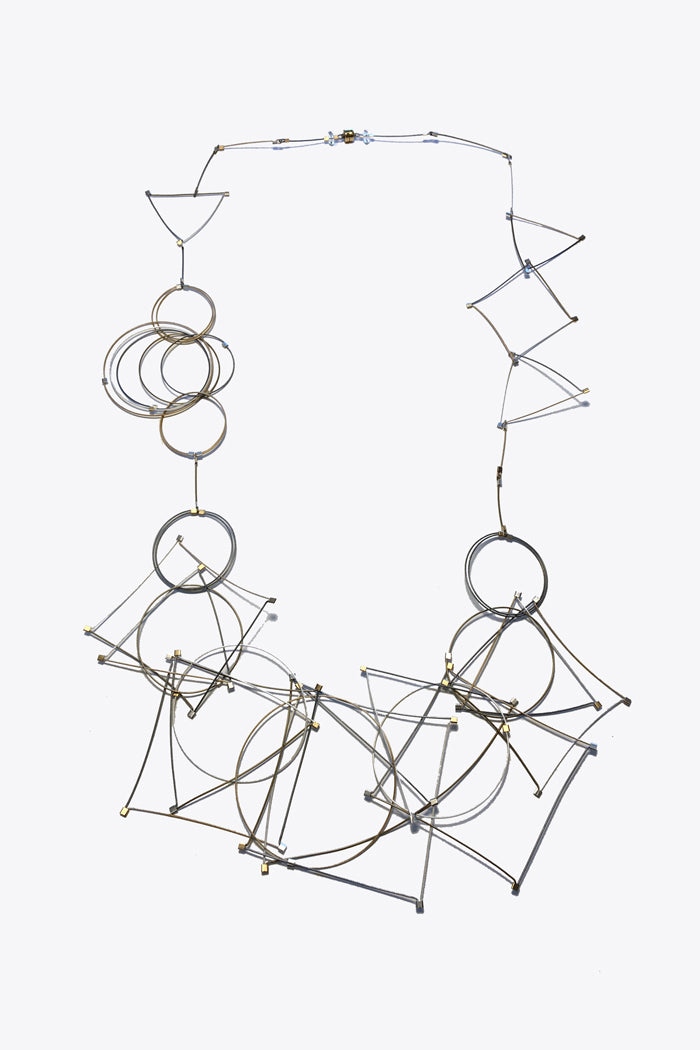 MPR Long Shape Necklace in Multi Metal
