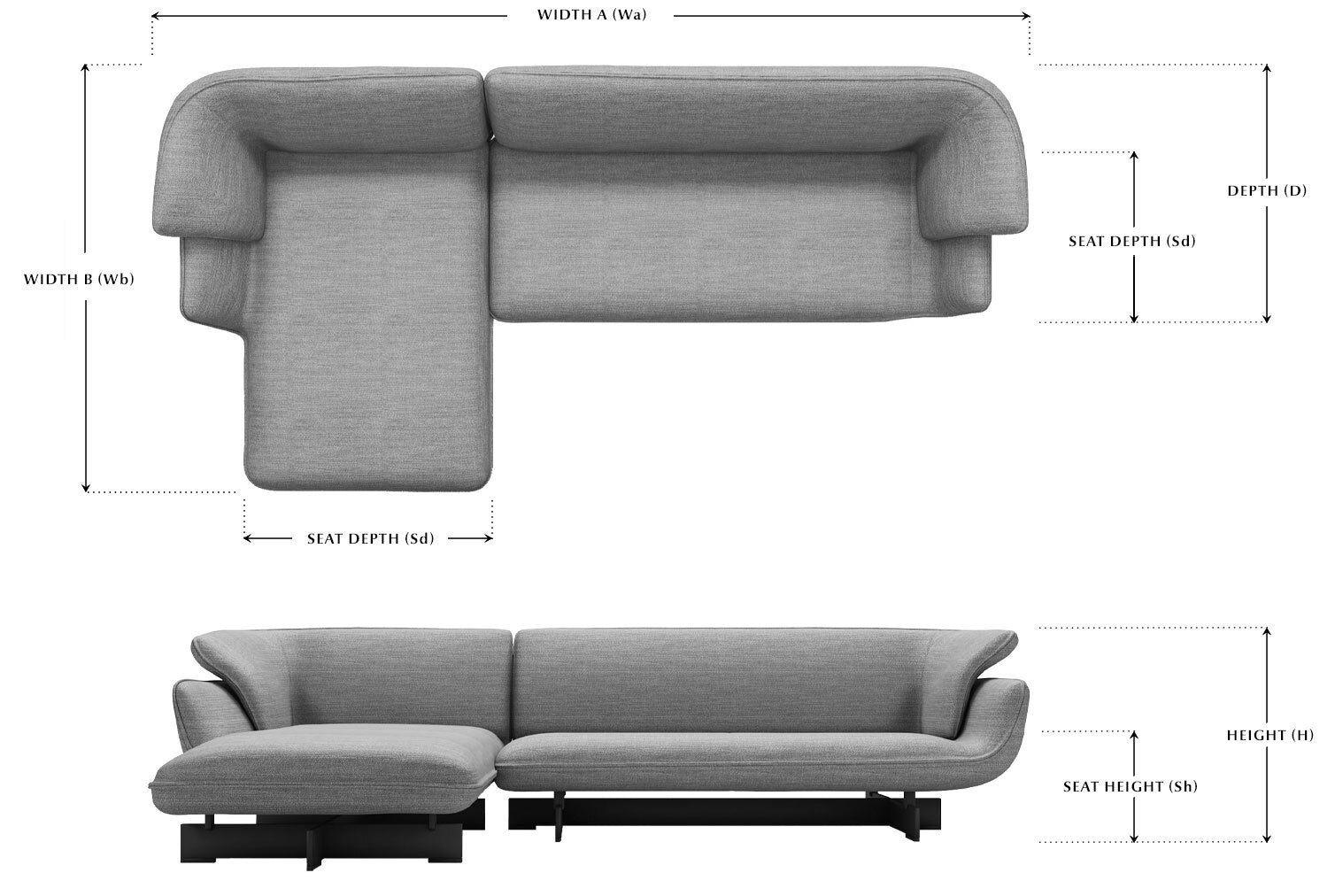 Sofa dimension -  One Off Edition measurement guide