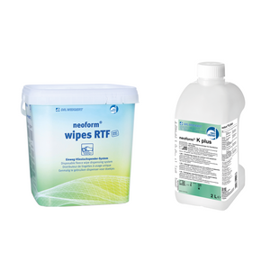 Set dispenser servetele Neoform Wipes RTF + dezinfectant Neoform K Plus
