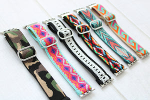 Nylon Adjustable Watch Bands for Apple Watch
