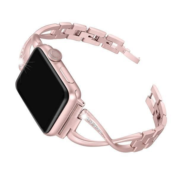Bracelet with Rhinestones & Alloy Metal for Apple Watch