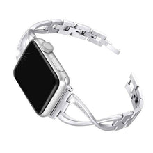 Load image into Gallery viewer, Apple Watch Bracelet with Rhinestones & Alloy Metal