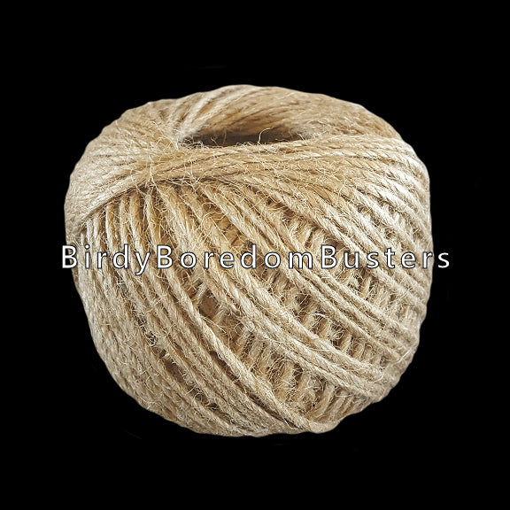 80 gram spool of 3 ply natural jute cord.  Use for small toys and parts with small holes.