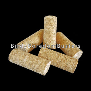 "Natural, untreated & glue-free corks measuring approx 3/4"" by 2"".  A favorite part for timid chewers.  Package contains 10 corks."