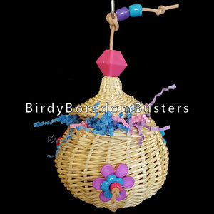 Wicker Foraging Basket