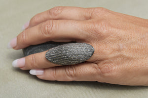 Bague Phalange Diamants Gris by AVA Precious Goods