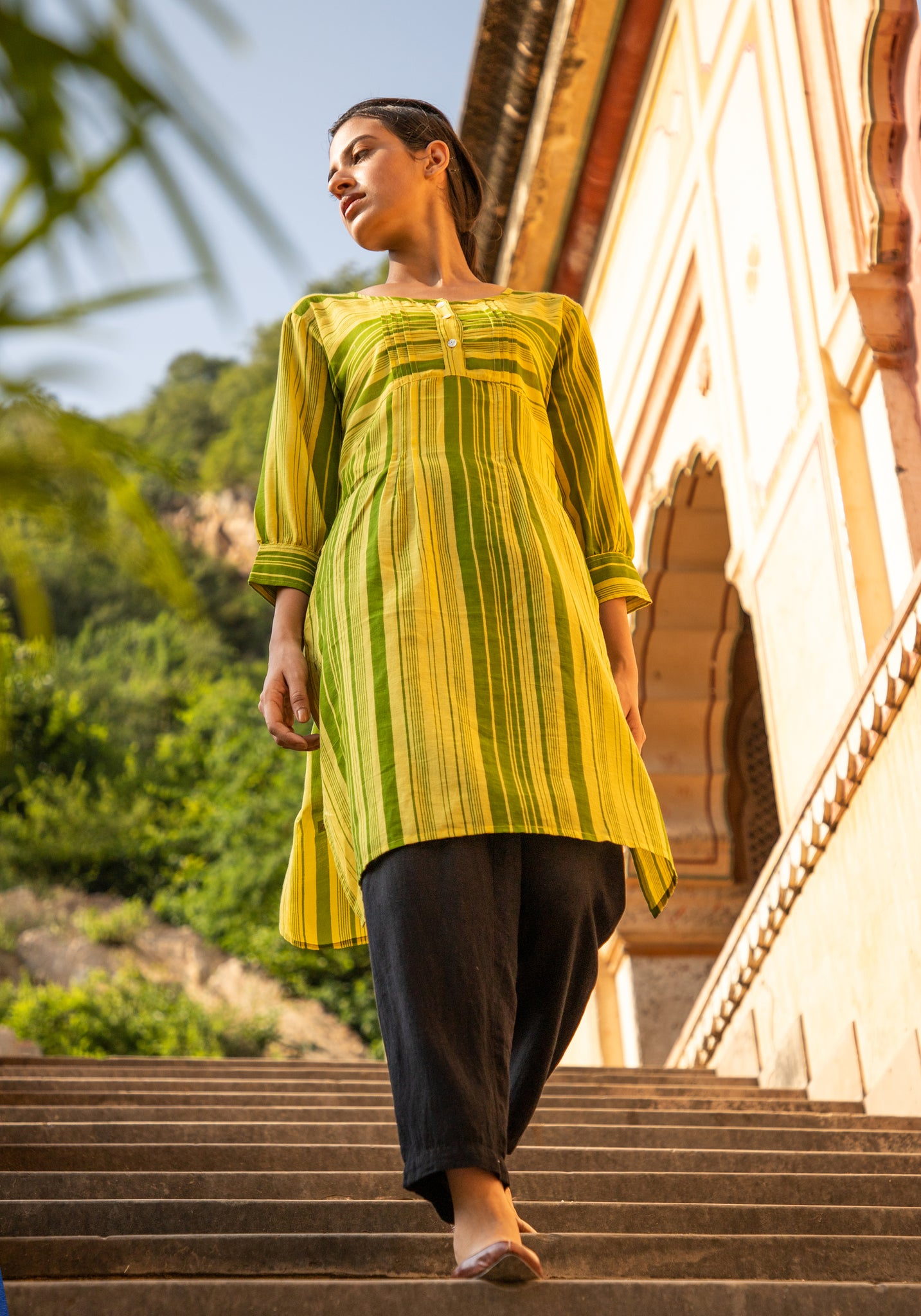 Naviyata Blind Tucks Basic Kurti/Tunic