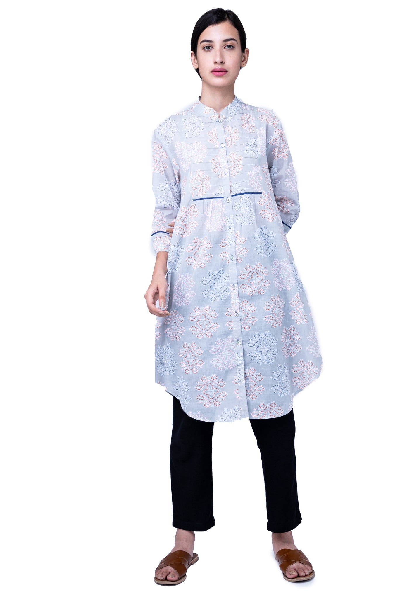 Naviyata Basic Paneled Shirt Dress