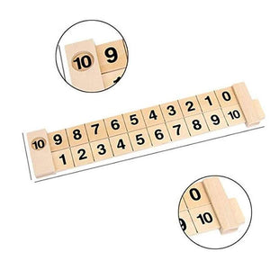 Wooden Math Arithmetic Decomposition Ruler 1-10 Addition and Subtraction