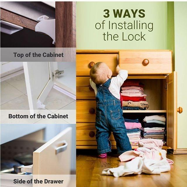 Effective Child Proof Cabinets Locks