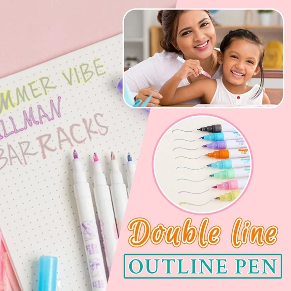 Double Line Outline Pen For Gift Card Writing & Drawing