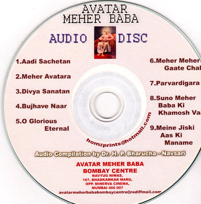 Avatar Meher Baba Audio Disc Compilation