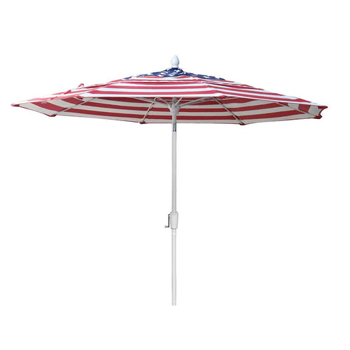 9' Market Stripe Flag Umbrella - FiberBuilt Umbrellas