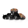 "Jungle Girl Grinder Titanium Premium Herb Grinder 2.2"" Wide, black"