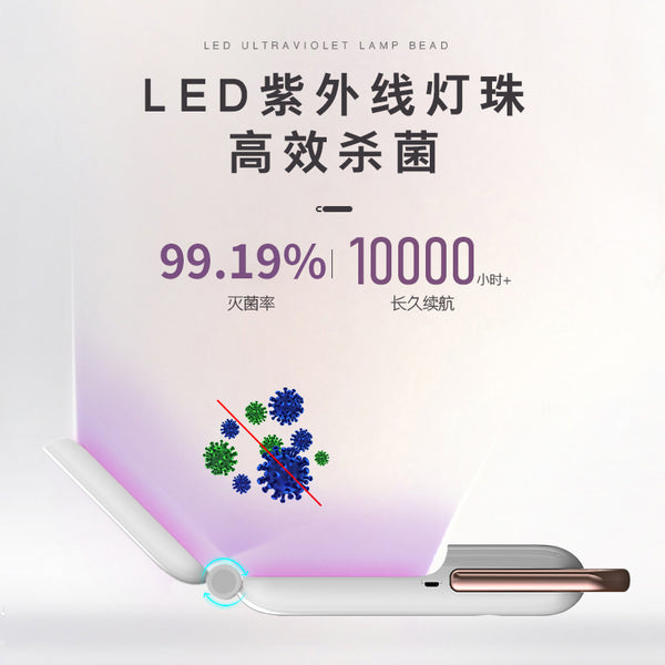 UV Light Sanitizer Handheld Ultraviolet Disinfection Lamp Without Chemicals for Home Household Hotel Wardrobe Toilet Car Pet Area Travel Wand Portable