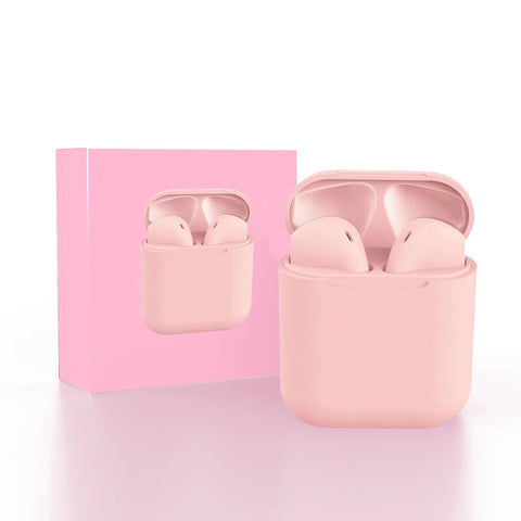 Pink Pods TWS Wireless, headphones, earphones With Charging Box - The Electronic
