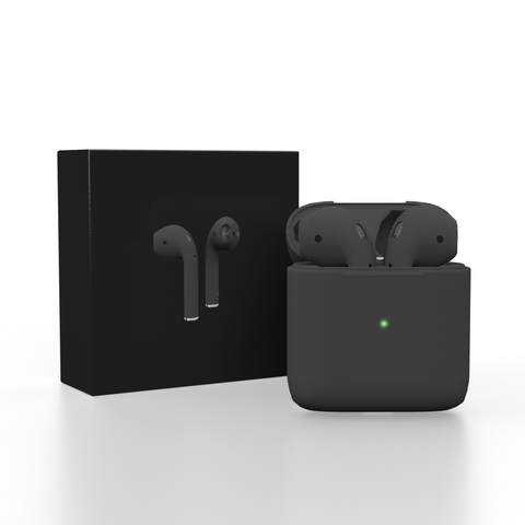 Black Pods V2 TWS Wireless, headphones, earphones With Charging Box - The Electronic