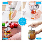 Manual Stainless Steel Easy Can Jar Opener Adjustable 1-4 Inches Cap Lid Openers Tool Kitchen Gadgets