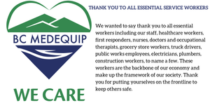 Thank you to all Essential Service Workers