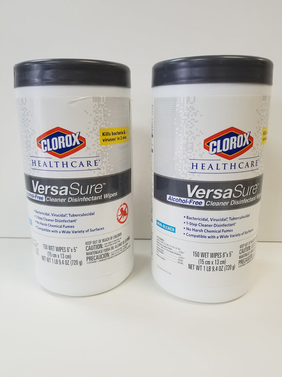 Clorox Versa Sure Alcohol-Free Cleaner Disinfectant Wipes - BC MedEquip Home Health Care