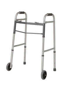 "Rental Walker - Deluxe Folding, Two Button with 5"" Wheels...starting at $30/month - BC MedEquip Home Health Care"