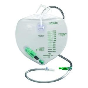 Drainage Bag, Anti-Reflux Device, Center-Entry, 2000mL - BC MedEquip Home Health Care