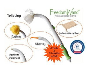 FREEDOM WAND – Personal Hygiene & Toilet Aid - BC MedEquip Home Health Care